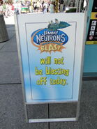 Universal Studios Jimmy Neutron's Nicktoon Blast closed sign