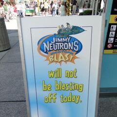 Jimmy Neutron's Nicktoon Blast closed sign