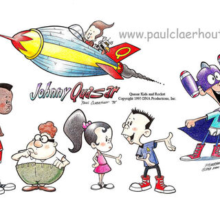 Prototype designs for Jimmy, Carl, Sheen, Cindy, Nick and Goddard.