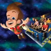 Universal Studios Jimmy Neutron's Nicktoon Blast Mark I Rocket Poster