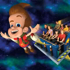 People flying in the Mark I Rocket with Jimmy