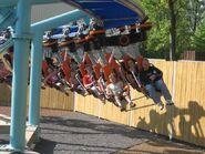 Jimmy Neutron's Atomic Flyer coaster cars