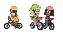 Carl, Cindy and Libby Bike Riding