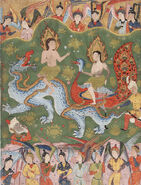 Adam and Eve from a copy of the Falnama