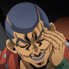 Formaggio making a humorous expression to fool <a href=