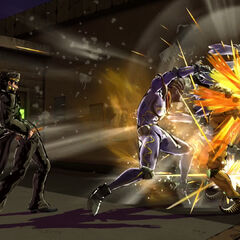 Jotaro attacking, <i>EoH</i>