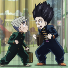 Koichi excited about manga.