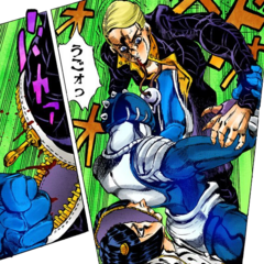 Sticky Fingers punches Prosciutto and unzipping his body