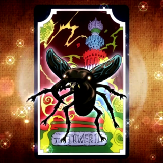 Tarot card representing The Tower