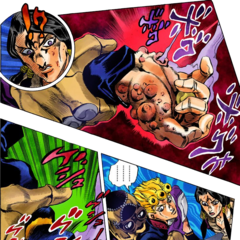 Giorno preemptively infects himself with Purple Haze's virus