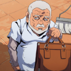 Pericolo holding a suitcase with <a href=