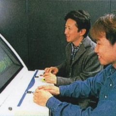 Araki playing JoJo Arcade Prototype with Capcom Staff - Jump '99 Issue 1 (1999)