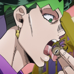 Rohan licking a spider.