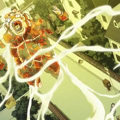 Shigechi's spirit ascends towards the heavens.