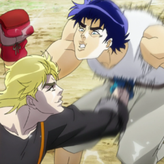 Jonathan and Dio boxing
