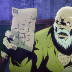Dario's letter to George in anime