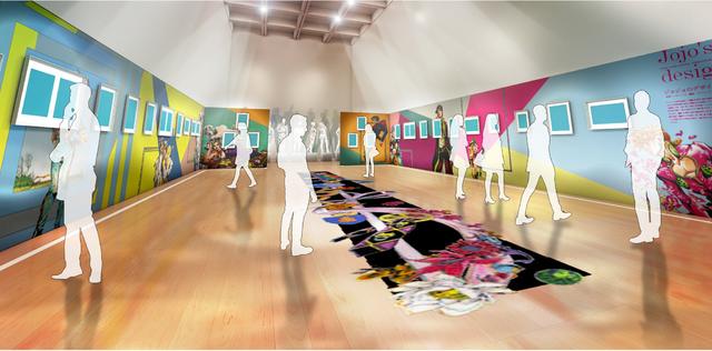 """Exhibición de JoJo por Hirohiko Araki: """"Ripples of Adventure"""" en El Centro Nacional de Arte, Tokyo, Japón."""
