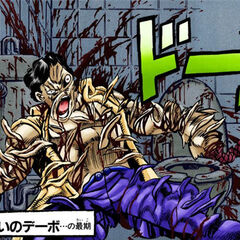 Devo's death after his Stand is completely sliced by <a href=