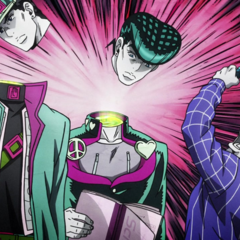 Jotaro's image being decapitated by <a href=