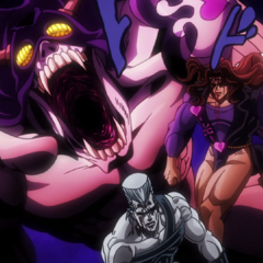 Cream's final last-ditch attack on Polnareff