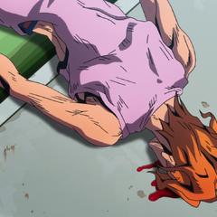 Sale's unconscious body