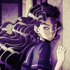 Yukako menacingly spies on Koichi.
