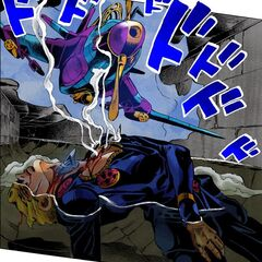 Tracking Giorno through his bullet wounds in the fight against <a href=