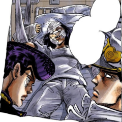 Hazamada hospitalized, interrogated by Josuke and Jotaro