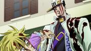 Jotaro threatening Kira