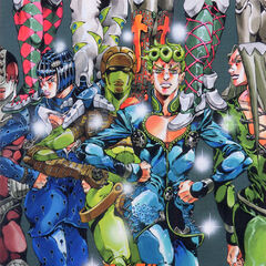 Poster drawn by Hirohiko Araki to promote the game (2/2)