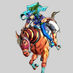 Gyro astride Valkyrie, <i>Eyes of Heaven</i>