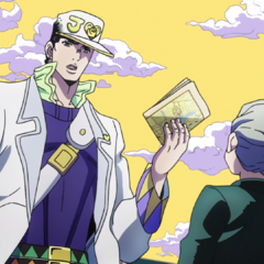 Jotaro asks Koichi where a man named <a href=