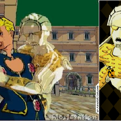 An early build of Giorno and Gold Experience