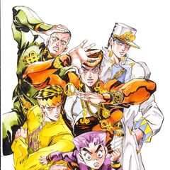 With the main characters of Part 4