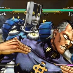 Okuyasu executing his HHA, <i>ASB</i>