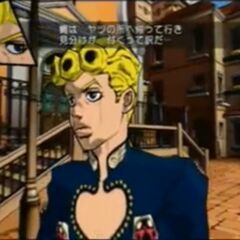Giorno being tested, <i>Vento Aureo</i>