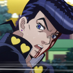 Josuke reaching speeds of 80 km/ph trying to outrace Highway Star.