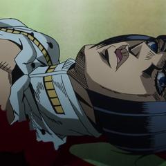 Bucciarati's lifeless corpse