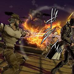 Old Joseph fighting DIO alongside Jotaro, <i>EoH</i>