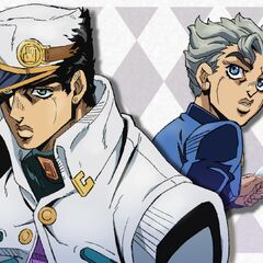 Countdown illustration featuring Jotaro and Koichi