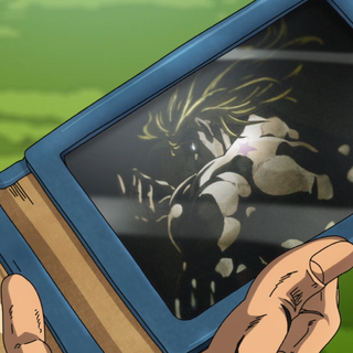 Giorno's photograph of DIO in the <a href=