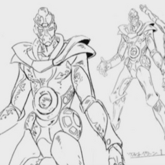 Hierophant Green Full Body Reference
