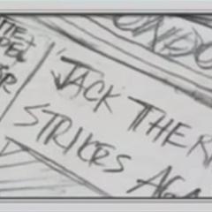 Newspaper headline from the Part 3 OVA timeline