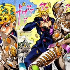 Gold Experience Requiem with Giorno