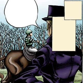 George Joestar I's first appearance in <i>Steel Ball Run</i>