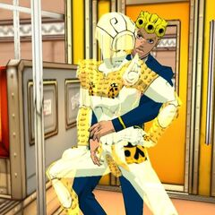 Giorno and Gold Experience prepare to fight Bucciarati, <i>Vento Aureo</i>