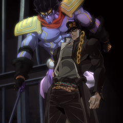 Jotaro with Star Platunim