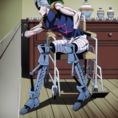 Polnareff trying to retrieve the Arrow