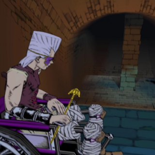 Diavolo making his way to Polnareff