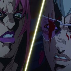 Diavolo faces off against Polnareff